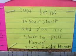 Words of wisdom, Hannah... Image: healthandphysicaleducation.wordpress.com