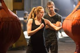 A still from the forthcoming movie showing Tris and Four in a training session. Image: hypable.com