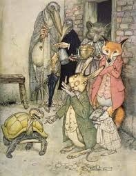 Arthur Rackham's illustration for 'The Tortoise and the Hare' Image: childhoodreading.com