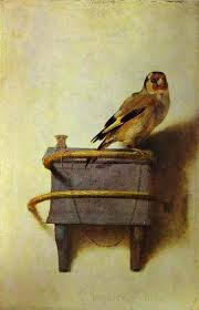 'The Goldfinch,' Carel Fabritius, 1654, Mauritshius, The Hague, the Netherlands. Image: the-toast.net