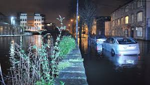 Flooding on Wandesford Quay in Cork City. Photo by Darragh McSweeney. Image sourced: rte.ie