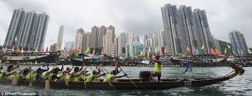 Dragon boat racing in Hong Kong - rowing to the beat of a drum sounds like just the ticket! Image: dailymail.co.uk