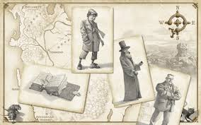 An illustration typical of the book, showing Nevery's diary, Conn, Nevery and Benet on a backdrop of the map of Wellmet Image: sarah-prineas.com Artist: Antonio Javier Caparo