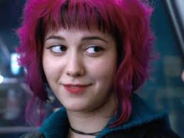 Shyeah right. As if I'd be in a romcom. Come on! Ramona Flowers, lead character in 'Scott Pilgrim Vs The World', as played by Mary Elizabeth Winstead. Image: rottentomatoes.com