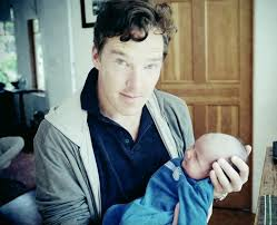 I am using this image because it's actually rather apt, and not at all because it's of said actor. Holding a baby.  Image: celebitchy.com