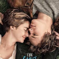 Shailene Woodley as Hazel Grace Lancaster and Ansel Adams as Augustus (Gus) Waters in the promotional poster for the movie version of John Green's novel 'The Fault in Our Stars.' Image: twitter.com