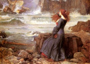 'Miranda - the Tempest', John William Waterhouse, 1916. Public Domain Image.  Sourced: flashfriday.wordpress.com