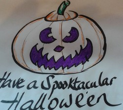 One of my designs for my Hallowe'en goodie bags! OoooOOoooooOOO...